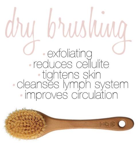 how to dry brush skin