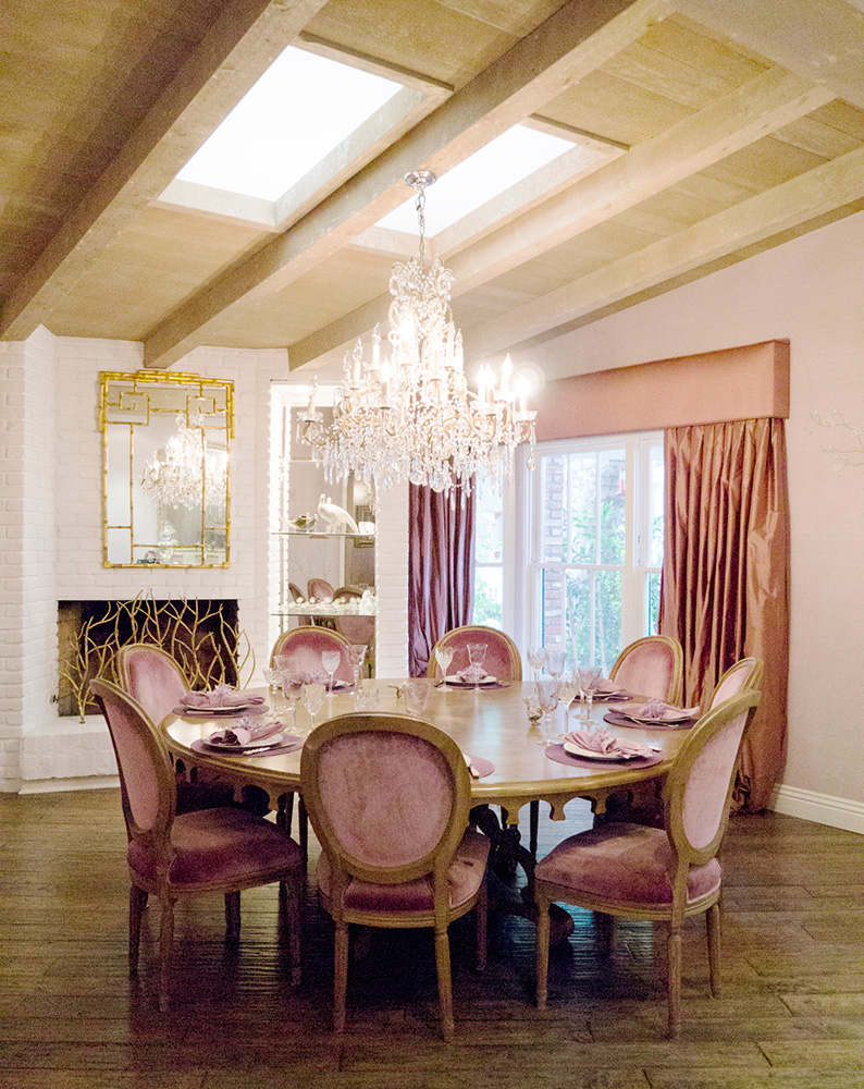 Pink And Gold Dining Chair