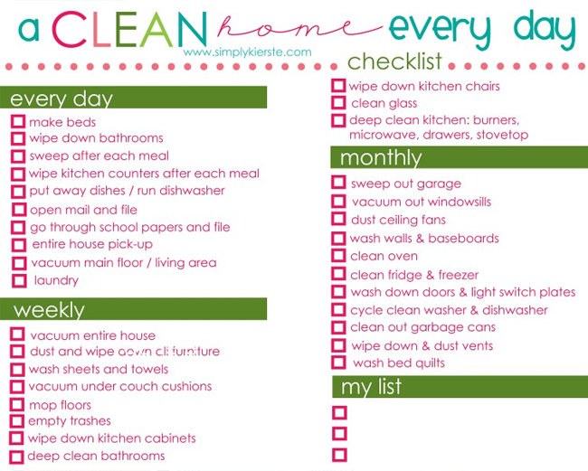 Spring organizing printables the dumbbelle for House cleaning and organizing