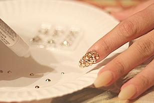 DIY Swarovski Crystal Nails