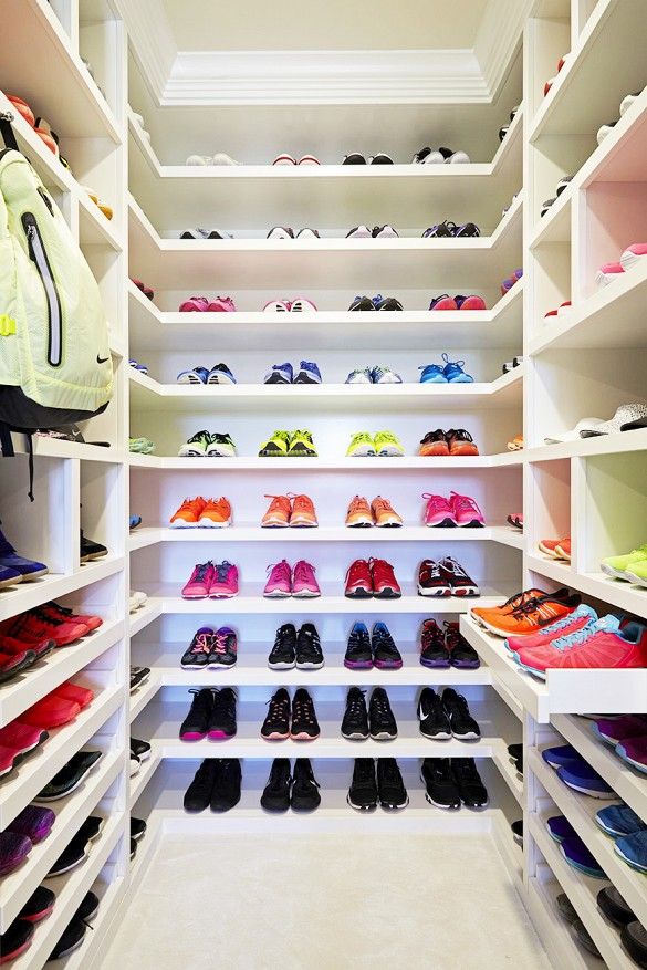 The 150 Square Foot Space, Designed By Celebrity Closet Designer Lisa Adams  Of LA Closet Design, Houses Dozens Of Pairs Of Sneakers, Sports Bras, ...