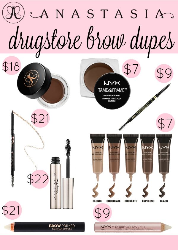Anastasia Brow Drugstore Dupes The Dumbbelle