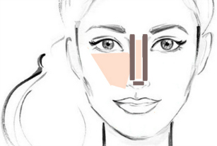 Contour your nose in 4 easy steps