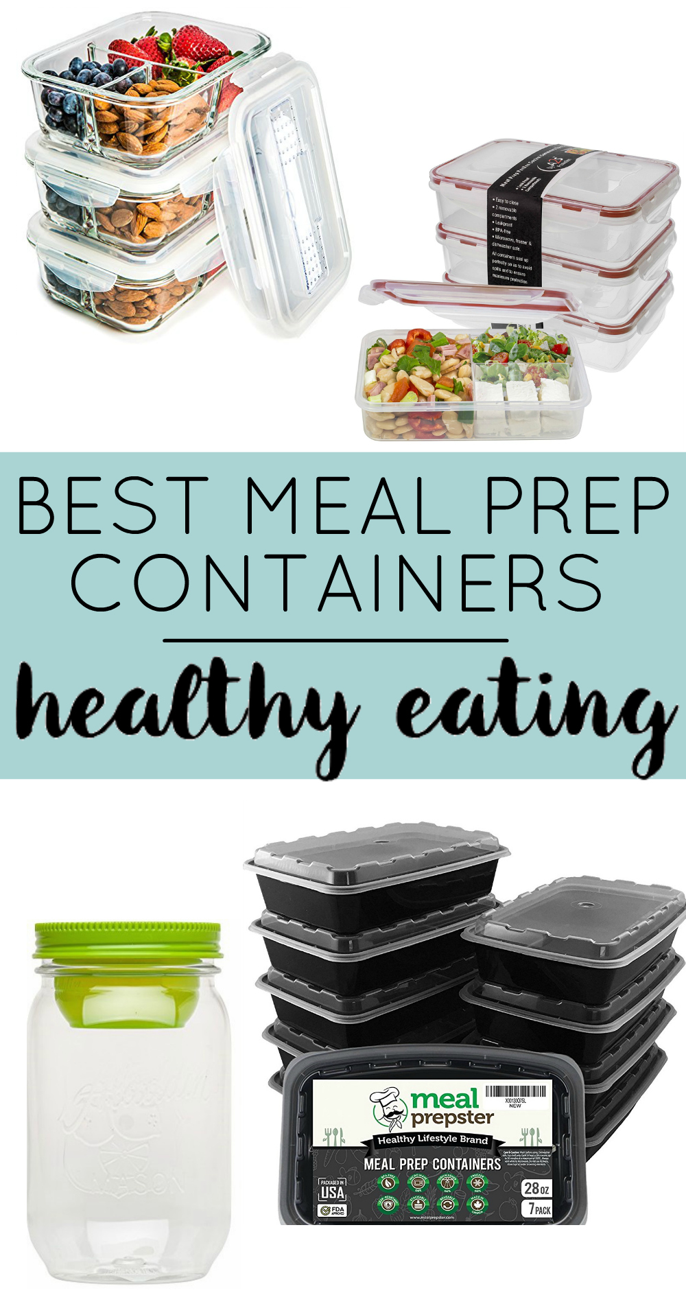 fitness meal prep containers for healthy living the dumbbelle. Black Bedroom Furniture Sets. Home Design Ideas