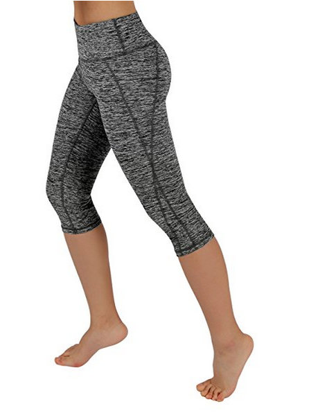 ODODOS Power Flex Yoga Capris Pants Tummy Control Workout
