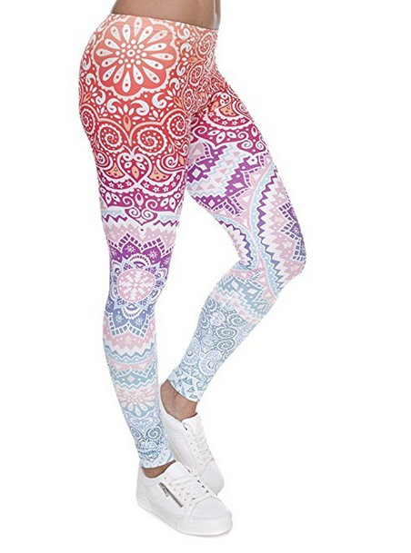 Ndoobiy Digital Printed Women's Full-Length Yoga Leggings